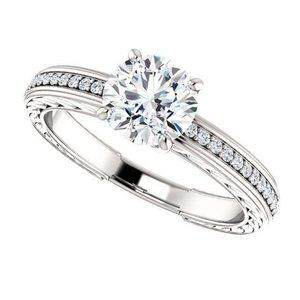 1.76 ct. Solitaire with accents diamonds wedding r